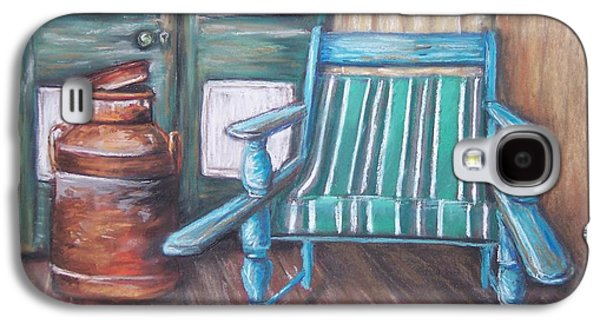 Chair Pastels Galaxy S4 Cases - Squatters Chair and Cream Can Galaxy S4 Case by Dianne  Ilka
