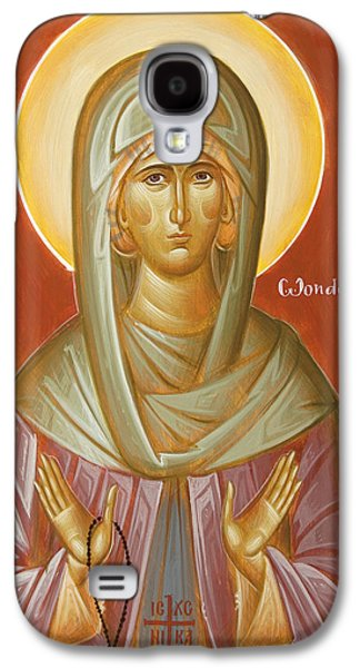 Orthodox Icon Galaxy S4 Cases - St Elizabeth the Wonderworker Galaxy S4 Case by Julia Bridget Hayes