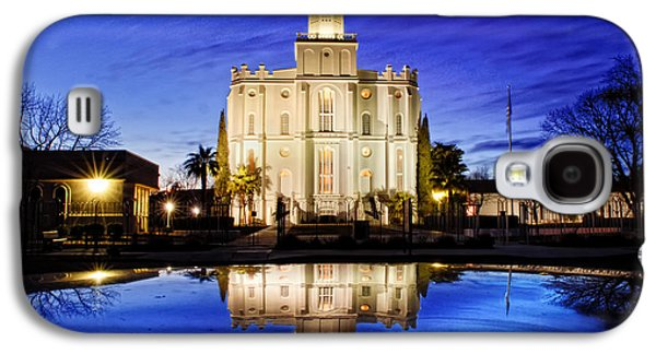 St George Galaxy S4 Cases - St George Temple Reflection Galaxy S4 Case by La Rae  Roberts