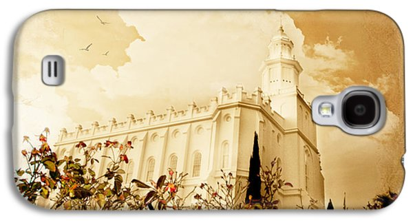 St George Galaxy S4 Cases - St George Temple Roses Galaxy S4 Case by La Rae  Roberts