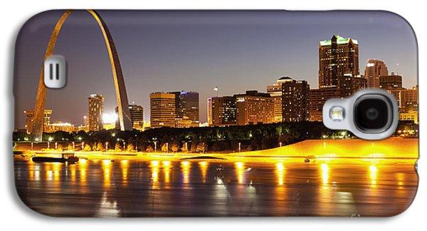 Monument Galaxy S4 Cases - St Louis Skyline Galaxy S4 Case by Bryan Mullennix