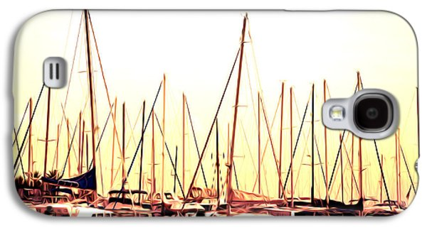 Sailboats Docked Galaxy S4 Cases - St. Petersburg in the Morning Galaxy S4 Case by Bill Cannon