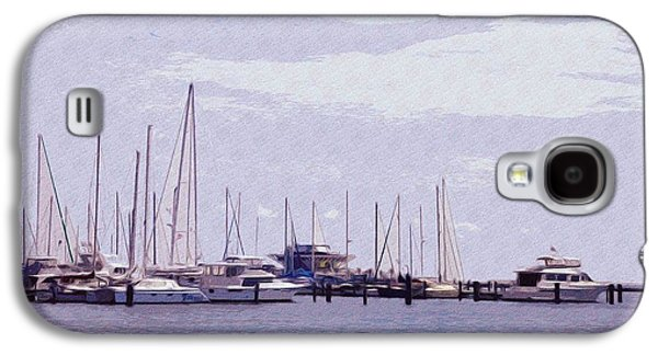 Sailboats Docked Galaxy S4 Cases - St. Petersburg Marina Galaxy S4 Case by Bill Cannon
