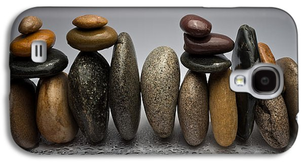 Studio Photographs Galaxy S4 Cases - Stacked River Stones Galaxy S4 Case by Steve Gadomski