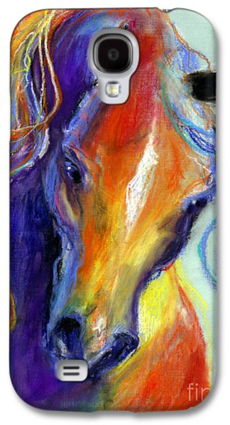 Original Drawings Galaxy S4 Cases - Stallion Horse painting Galaxy S4 Case by Svetlana Novikova