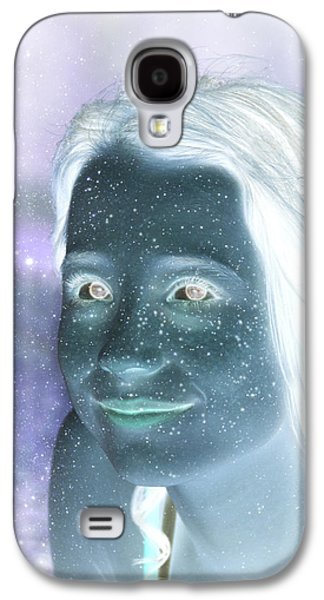 Photo Manipulation Digital Galaxy S4 Cases - Star Freckles Galaxy S4 Case by Nikki Marie Smith