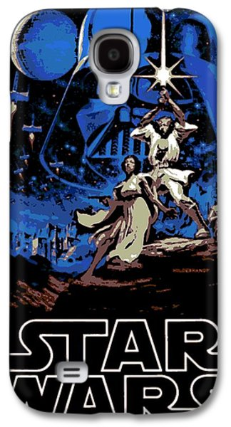 Star Wars Poster Galaxy S4 Case by George Pedro