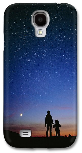 Stargazing Galaxy S4 Cases - Starry Sky And Stargazers Galaxy S4 Case by David Nunuk