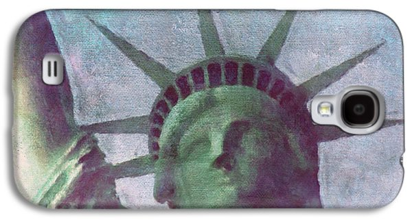 Statue Galaxy S4 Cases - Statue of Liberty Galaxy S4 Case by Angela Doelling AD DESIGN Photo and PhotoArt