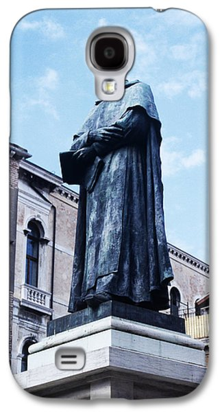 Statue Portrait Galaxy S4 Cases - Statue Of Paolo Sarpi, Venetian Scientist Galaxy S4 Case by Sheila Terry