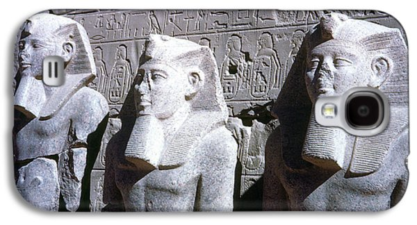 Statue Portrait Galaxy S4 Cases - Statues Of Ramses Ii Galaxy S4 Case by Granger
