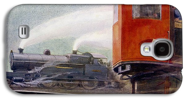 Historical Images Galaxy S4 Cases - Steam Trains Versus Electric Galaxy S4 Case by Mary Evans and Photo Researchers