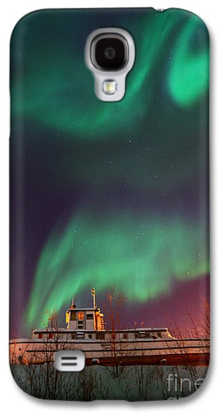 Steamboat Galaxy S4 Cases - Steamboat Under Northern Lights Galaxy S4 Case by Priska Wettstein