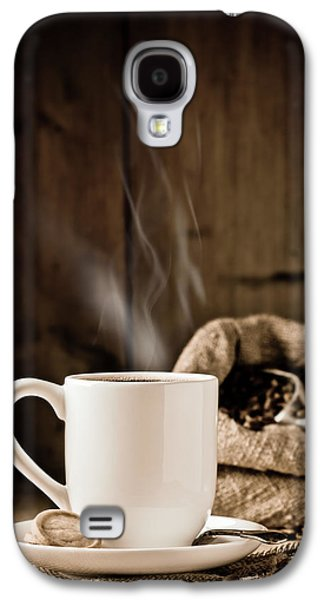 Rustic Galaxy S4 Cases - Steaming Coffee Galaxy S4 Case by Amanda And Christopher Elwell