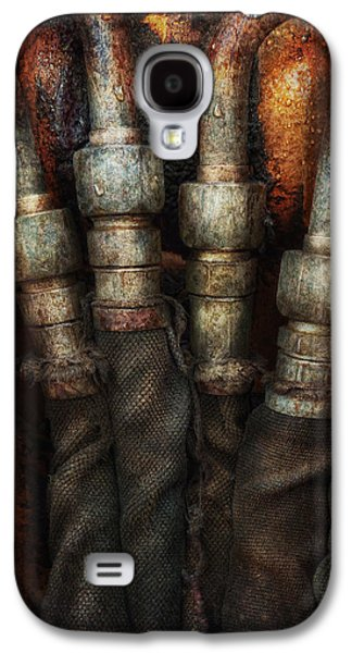 Mechanism Galaxy S4 Cases - Steampunk - Pipes Galaxy S4 Case by Mike Savad