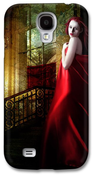 Timeless Galaxy S4 Cases - Steps in Red Galaxy S4 Case by Karen H