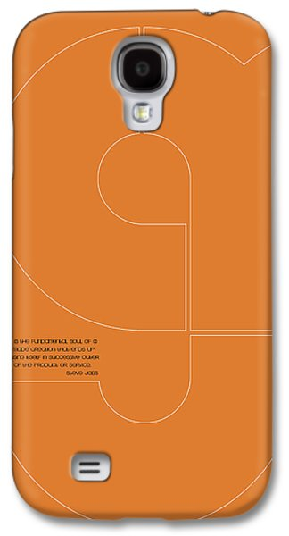 Forms Digital Art Galaxy S4 Cases - Steve Jobs Quote Poster 2 Galaxy S4 Case by Naxart Studio
