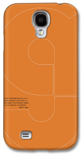 Steve Jobs Quote Poster 2 Galaxy S4 Case by Naxart Studio