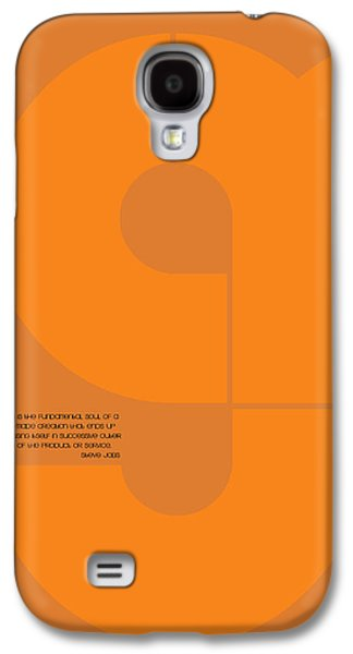 Forms Digital Art Galaxy S4 Cases - Steve Jobs Quote Poster Galaxy S4 Case by Naxart Studio