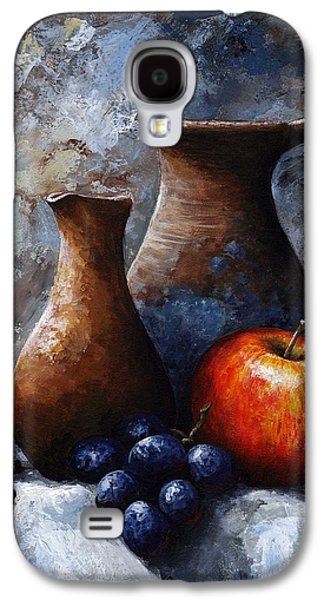 Still Life Paintings Galaxy S4 Cases - Still life 11 Galaxy S4 Case by Emerico Imre Toth