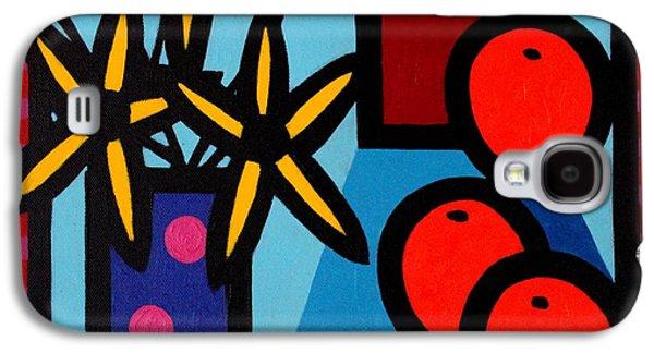 Flower Still Life Prints Galaxy S4 Cases - Still Life With Five Oranges Galaxy S4 Case by John  Nolan