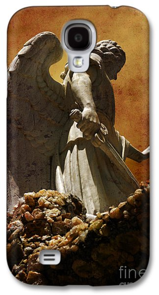 Angels Galaxy S4 Cases - STOP in the name of God Galaxy S4 Case by Susanne Van Hulst