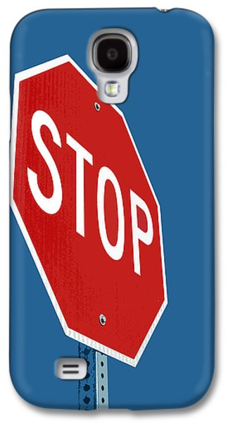Stop Sign Galaxy S4 Cases - Stop Sign Galaxy S4 Case by Glennis Siverson