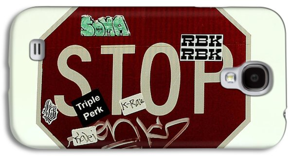 Stop Sign Galaxy S4 Cases - Stop Taggin Galaxy S4 Case by Cheryl Young