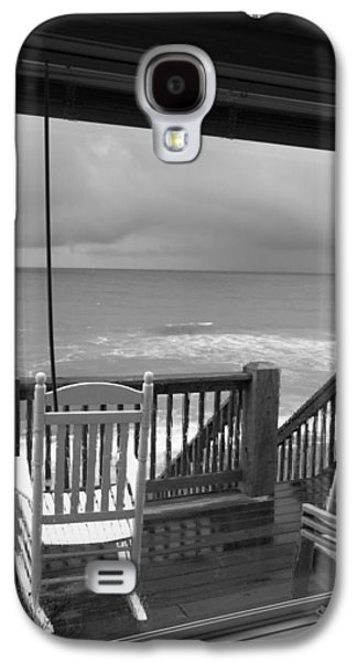Storm-rocked Beach Chairs Galaxy S4 Case by Betsy Knapp