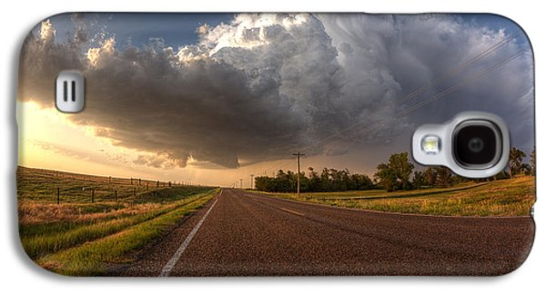 Future Photographs Galaxy S4 Cases - Stormy Road Ahead Galaxy S4 Case by Thomas Zimmerman