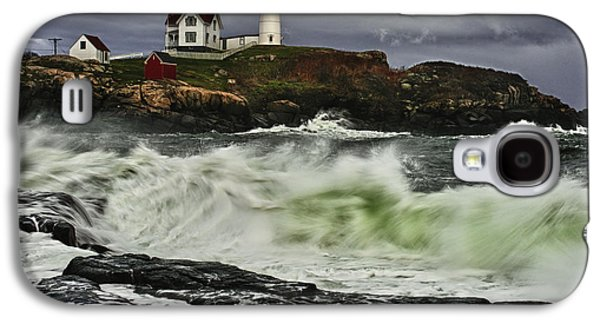 Cape Neddick Galaxy S4 Cases - Stormy Tide Galaxy S4 Case by Rick Berk