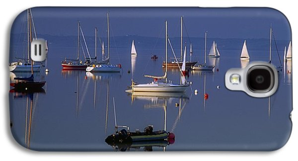 Boats In Reflecting Water Galaxy S4 Cases - Strangford Lough, Co Down, Ireland Galaxy S4 Case by Sici