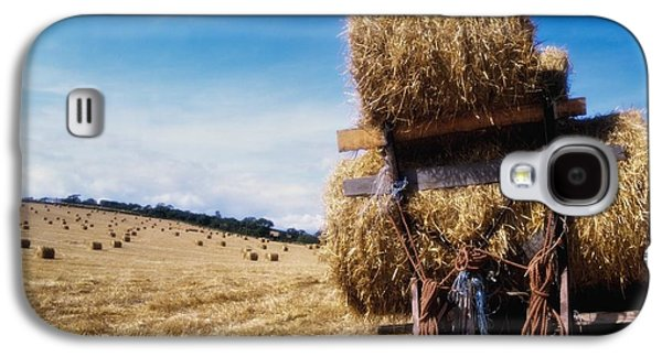 Machinery Galaxy S4 Cases - Straw Bales Straw Bales On A Machine Galaxy S4 Case by The Irish Image Collection