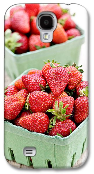Cardboard Galaxy S4 Cases - Strawberries Galaxy S4 Case by Elena Elisseeva