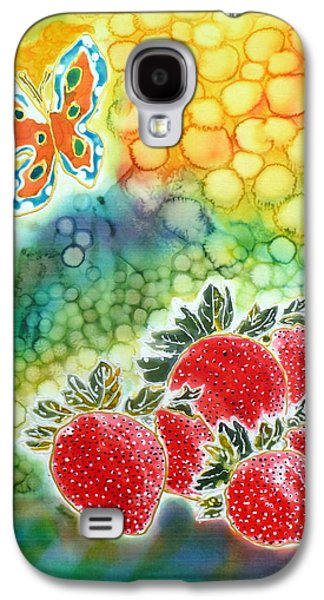 Food And Beverage Tapestries - Textiles Galaxy S4 Cases - Strawberry Garden Galaxy S4 Case by Beverly Johnson