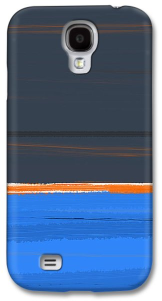 Abstract Forms Galaxy S4 Cases - Stripe Orange Galaxy S4 Case by Naxart Studio