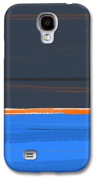 Stripe Orange Galaxy S4 Case by Naxart Studio