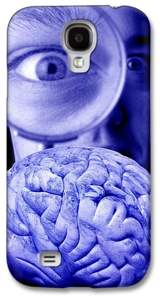 Psychiatry Galaxy S4 Cases - Studying The Brain, Conceptual Image Galaxy S4 Case by Victor De Schwanberg