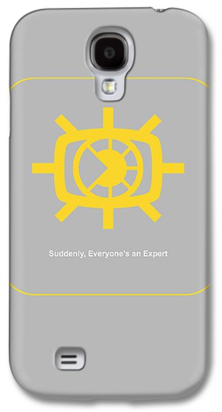 Social Galaxy S4 Cases - Suddenly Everyone is an expert Galaxy S4 Case by Naxart Studio