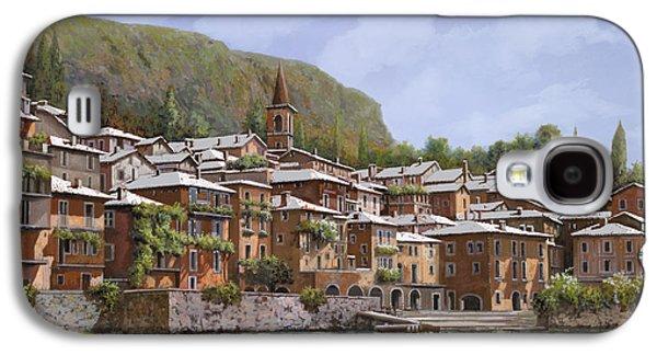 Lake Como Paintings Galaxy S4 Cases - Sul Lago di Como Galaxy S4 Case by Guido Borelli