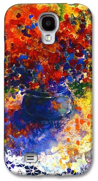 Watercolor Drawings Galaxy S4 Cases - Summer Flowers Galaxy S4 Case by Svetlana Novikova