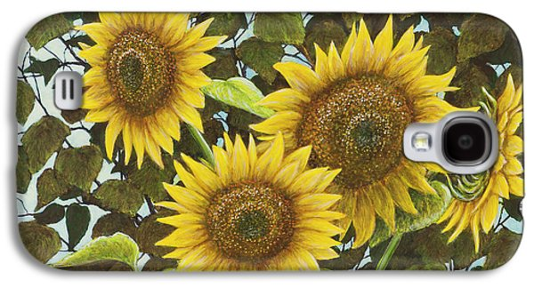 Sunflower Paintings Galaxy S4 Cases - Summer Quintet Galaxy S4 Case by Marc Dmytryshyn
