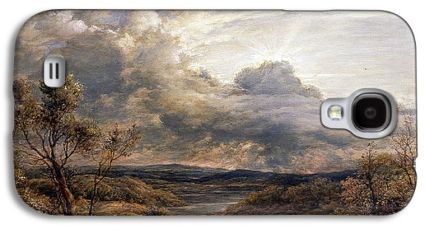 Sun Behind Clouds Galaxy S4 Case by John Linnell
