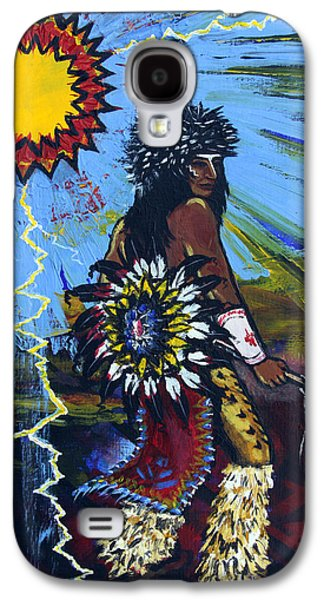 Tribe Paintings Galaxy S4 Cases - Sun Dancer Galaxy S4 Case by Karon Melillo DeVega