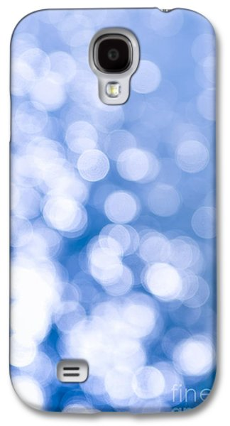 Blue Abstracts Photographs Galaxy S4 Cases - Sun reflections on water Galaxy S4 Case by Elena Elisseeva