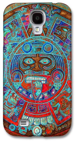 Unique Art Galaxy S4 Cases - Sun Stone Galaxy S4 Case by Jose Espinoza