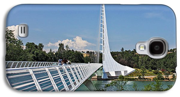 White River Scene Photographs Galaxy S4 Cases - Sundial Bridge - Sit and watch how time passes by Galaxy S4 Case by Christine Till