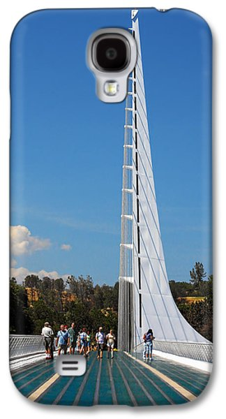 White River Scene Galaxy S4 Cases - Sundial bridge - This bridge is a glass-and-steel sculpture Galaxy S4 Case by Christine Till