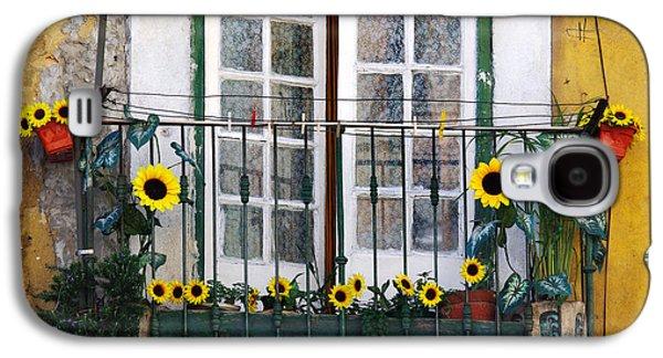 Portugal Galaxy S4 Cases - Sunflower balcony Galaxy S4 Case by Carlos Caetano