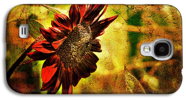 Floral Digital Art Galaxy S4 Cases - Sunflower Galaxy S4 Case by Lois Bryan